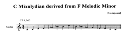 C MIxolydian Dominant derived from F Melodic Minor II.jpg